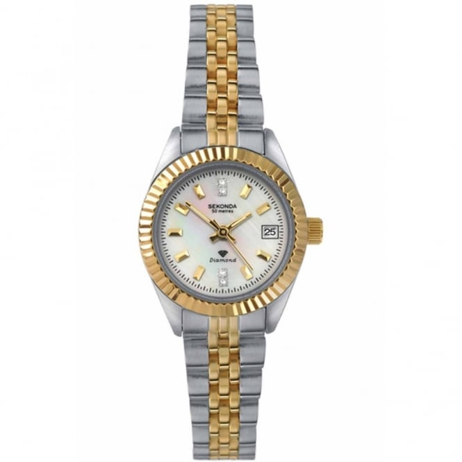 Sekonda Ladies' Two Tone Diamond Set Watch 4548
