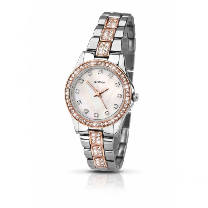 Sekonda Ladies Two Tone Stone Set Starfall Watch 2019