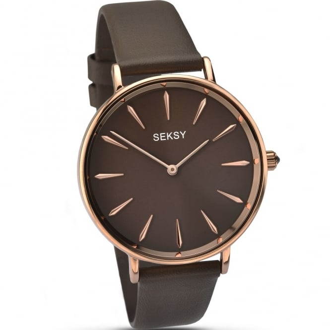 Seksy By Sekonda Ladies Brown Leather Edit Watch 2010