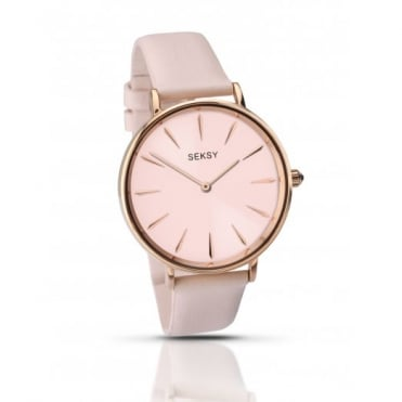 Seksy By Sekonda Ladies Pink Leather Edit Watch 2009