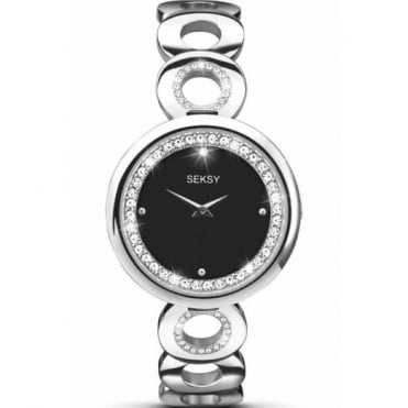 Seksy By Sekonda Ladies' S/Steel Stone Set Watch 2077