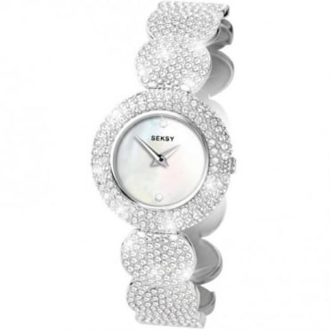 Seksy By Sekonda Ladies Stone Set White Elegance Watch 4851
