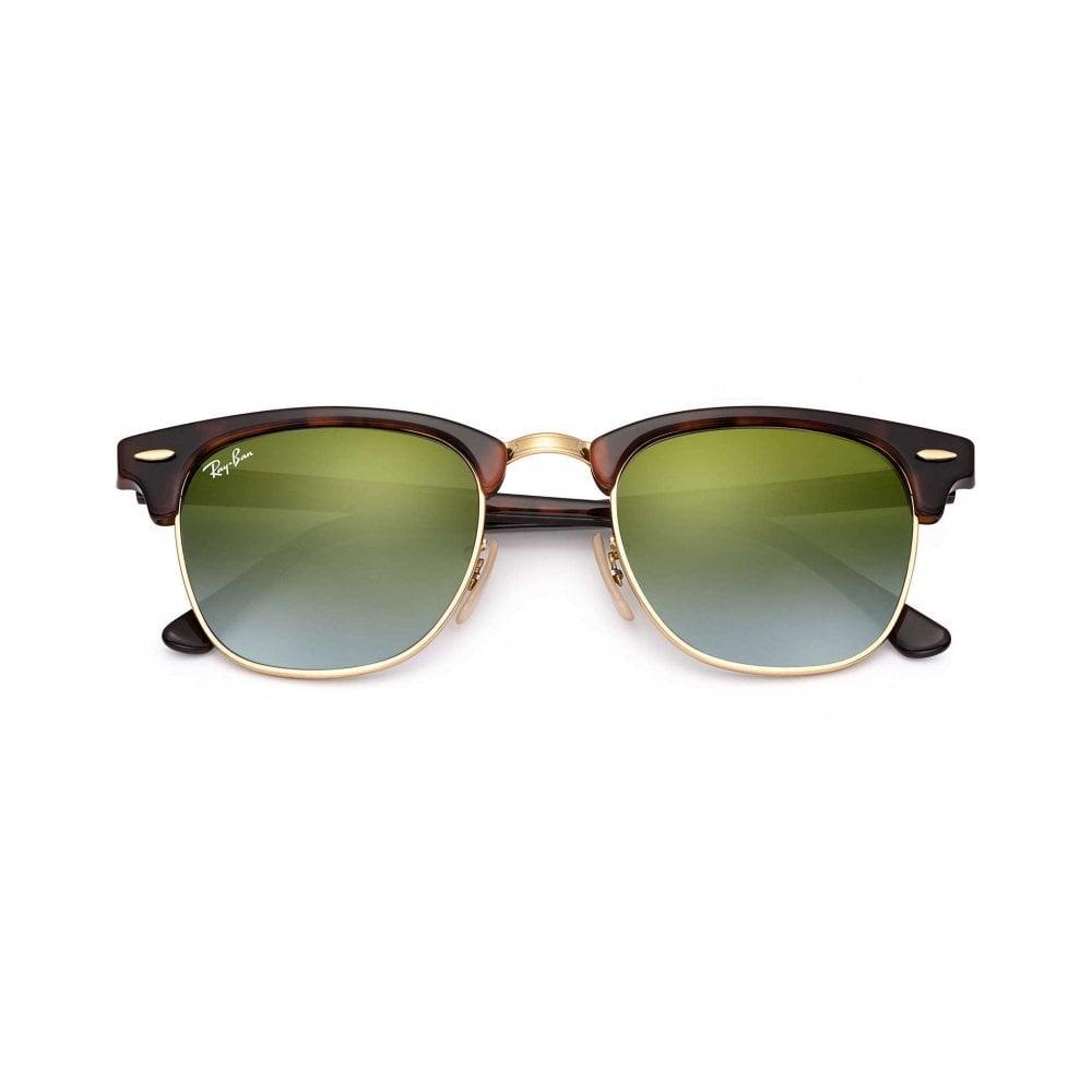 7b33ab11cf97 Shiny Red Havana Clubmaster Sunglasses RB3016 990 9J 51 - Sunglasses ...