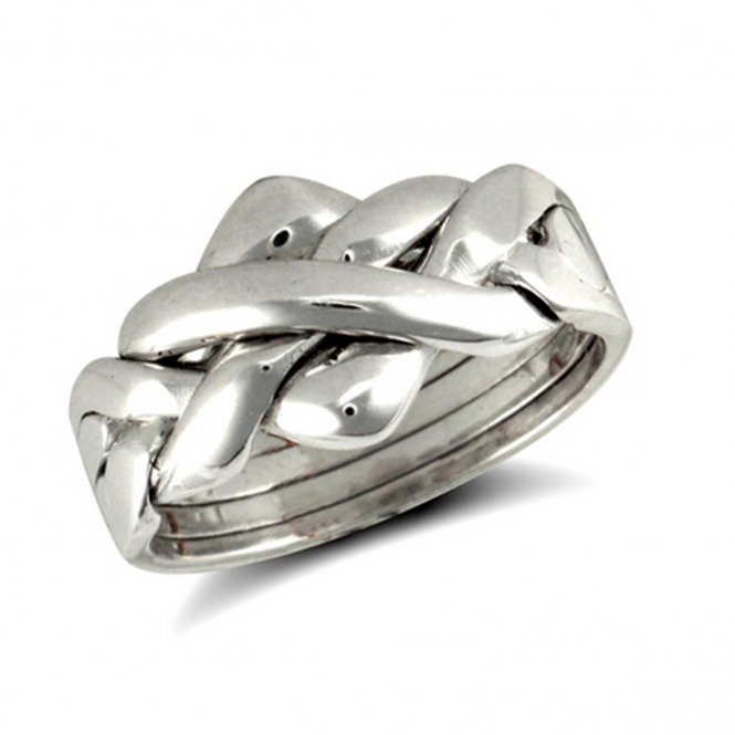 Silver 4 Piece Puzzle Ring