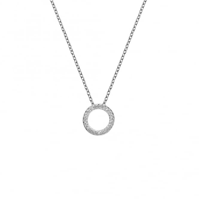 Silver Bliss Circle Pendant DP661