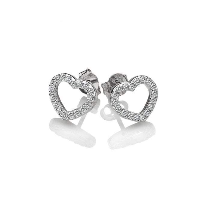 Silver Bliss Heart Earrings DE535