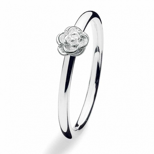 Spinning Jewelry Silver Flower Ring 144-00