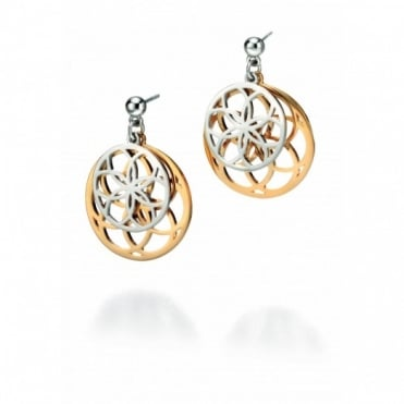Fiorelli Silver & Gold Plate Disc Earrings E4801