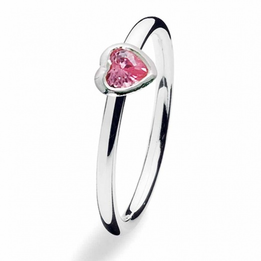 Spinning Jewelry Silver Heart Rose Ring 161-00