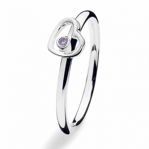 Silver Heartbeat Ring 143-07