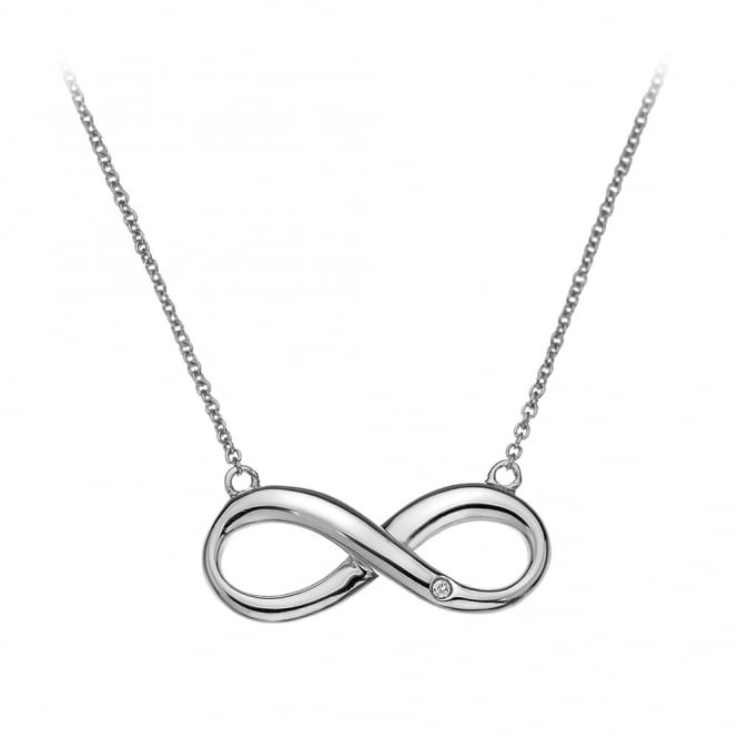 Silver Infitnity Necklace DN096