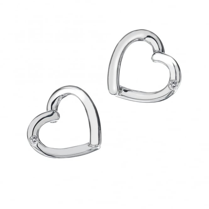 Silver Just Add Love Heart Earrings DE237