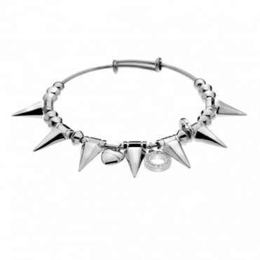 Emozioni Silver Plate Spike Bangle DC147