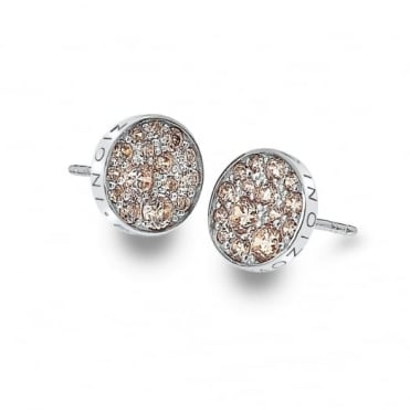 Silver Scintilla Champagne Earrings DE454