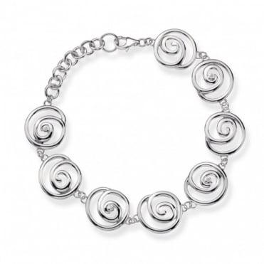 Hot Diamonds Silver Spiral Bracelet DL246