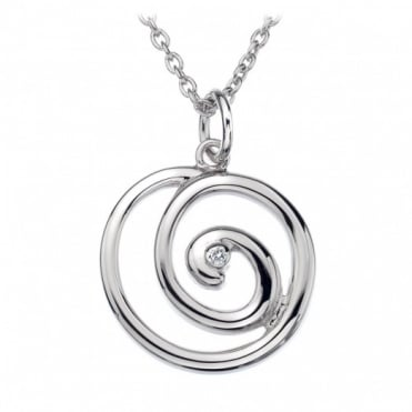 Hot Diamonds Silver Spiral Pendant DP371
