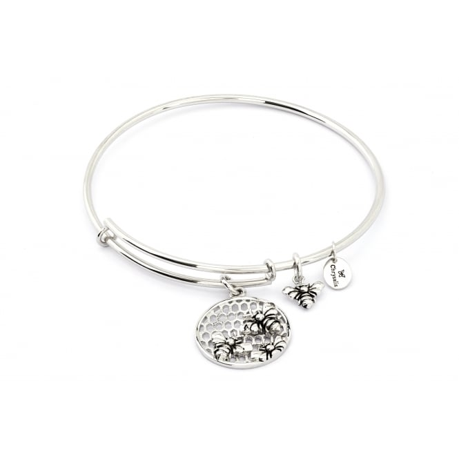 Spirited Bee Rhodium Plated Bangle CRBT1206SP