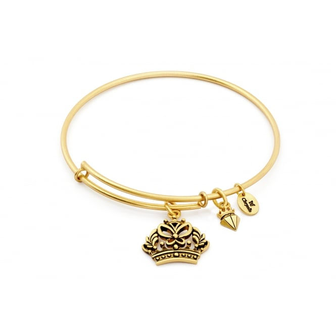 Spirited Crown Gold Plated Bangle CRBT1207GP