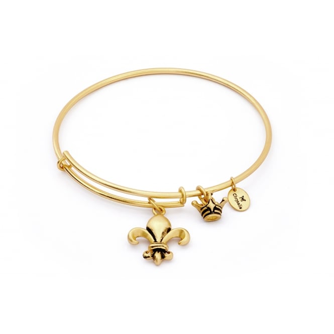 Spirited Fleur De Lis Gold Plated Bangle CRBT1211GP