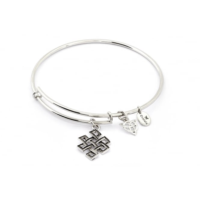 Spirited Karma Rhodium Plated Bangle CRBT1204SP