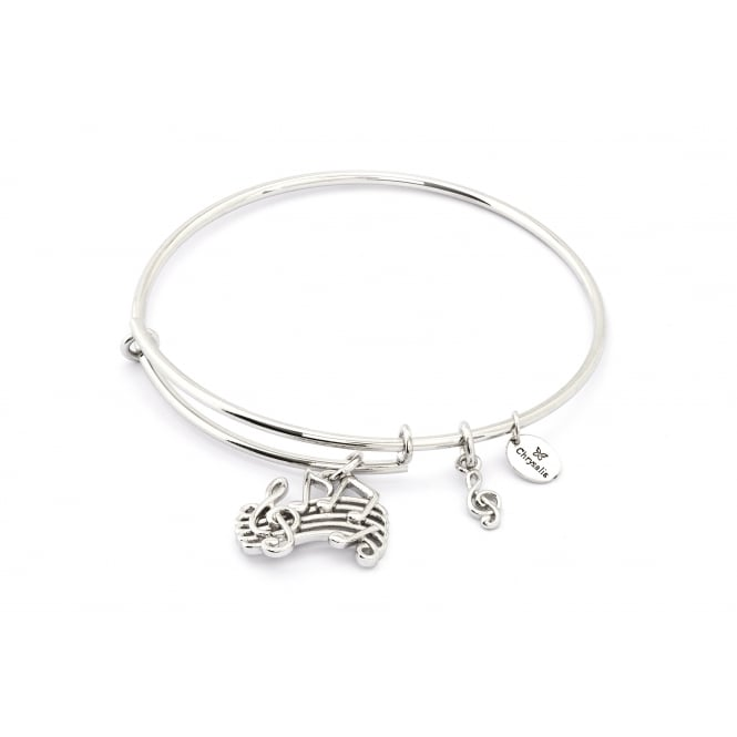 Spirited Music Rhodium Plated Bangle CRBT1208SP