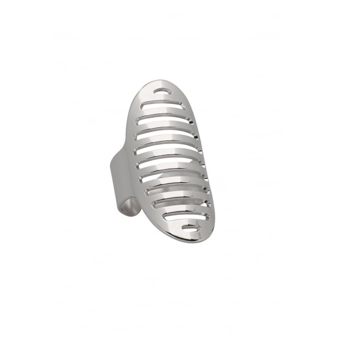 Striped Oval, Silver Ring BA-57.S