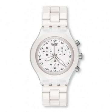 Swatch Gents Full-Blooded White Chronograph Watch SVCK4045AG