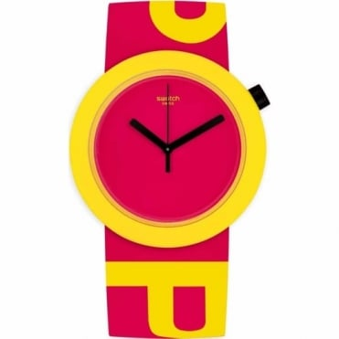 Swatch Red Pop-Tastic Watch PNJ100