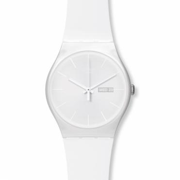 Swatch Unisex White Rebel Watch SUOW701