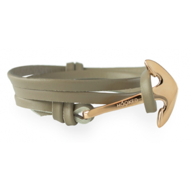 Taupe Leather & Rose Gold Bracelet ARL8