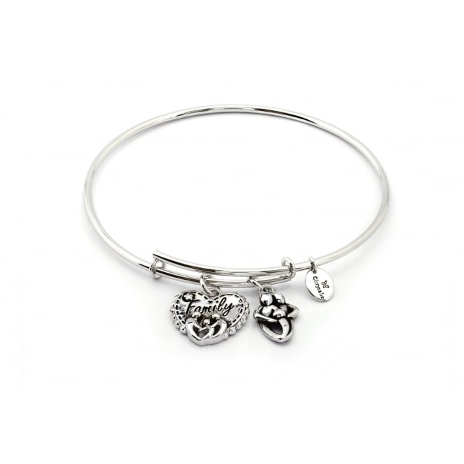 Thinking Of You Framily Rhodium Plated Bangle CRBT0723SP