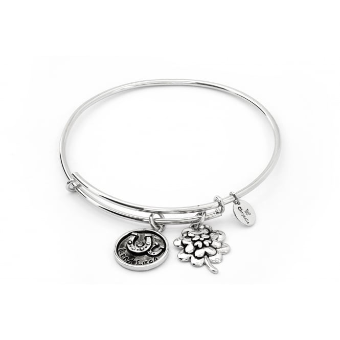 Thinking Of You Good Luck Rhodium Plated Bangle CRBT0722SP