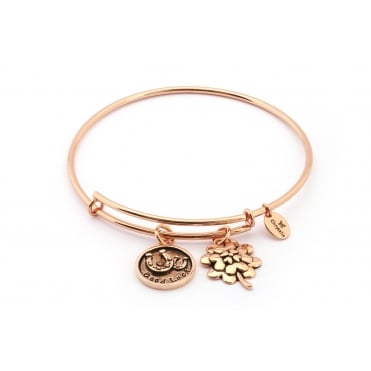 Thinking Of You Good Luck Rose Gold Plated Bangle CRBT0722RG