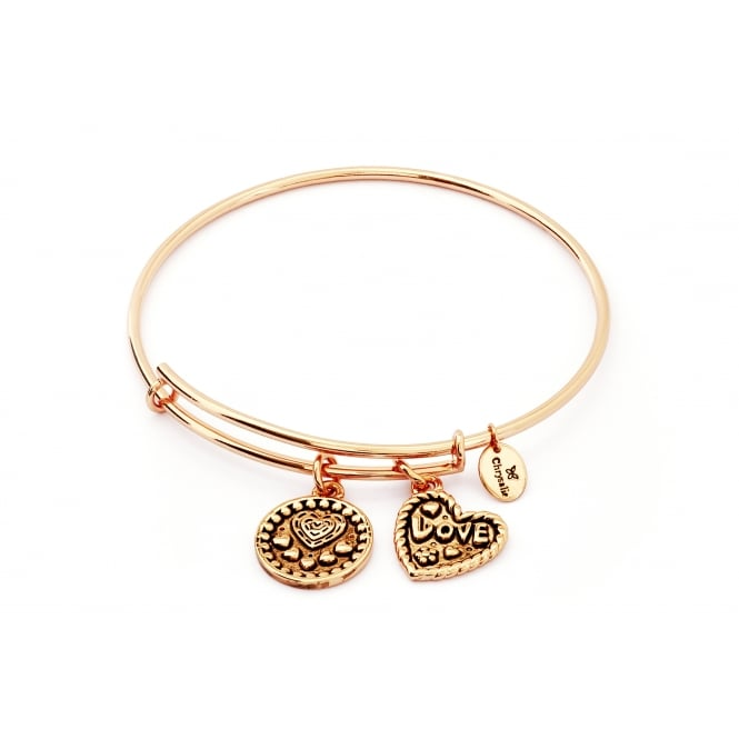 Thinking Of You Love Rose Gold Plated Bangle CRBT0718RG