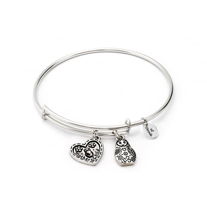 Thinking Of You Mother's Love Rhodium Plated Bangle CRBT0719SP