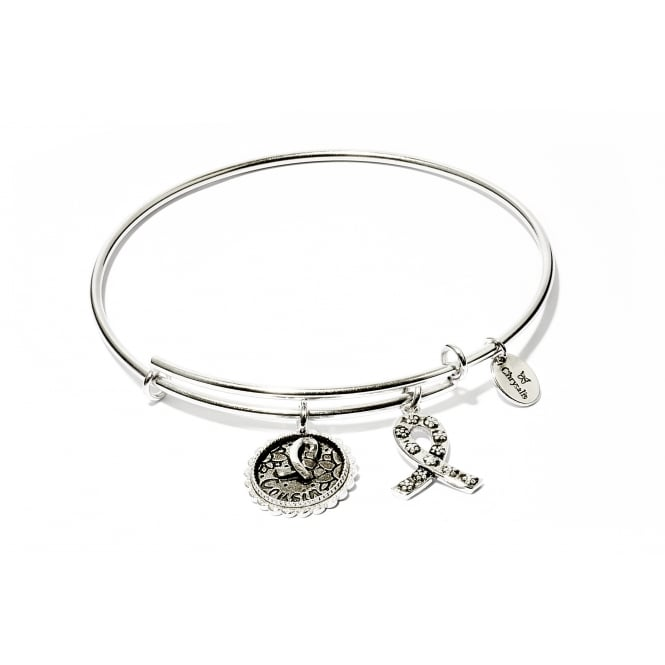 Thinking Of You Special Cousin Rhodium Plated Bangle CRBT0707SP