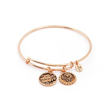 Thinking Of You Thank You Rose Gold Plated Bangle CRBT0716RG