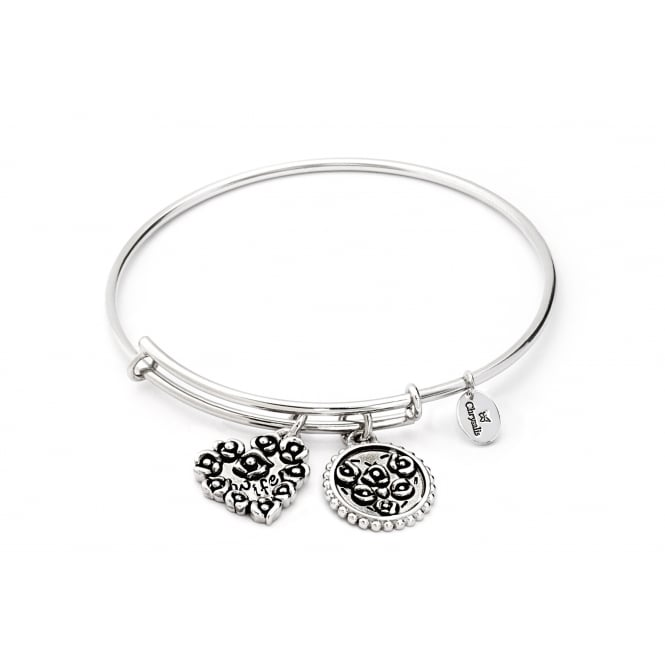 Thinking Of You Wife Rhodium Plated Bangle CRBT0720SP