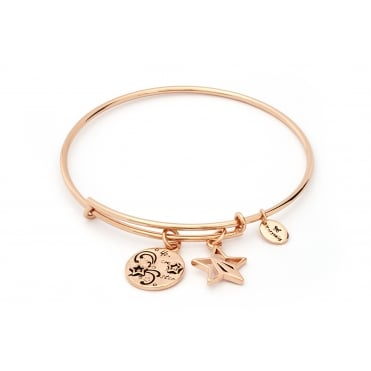 Thinking Of You You Are A Star Rose Gold Plated Bangle CRBT0724RG