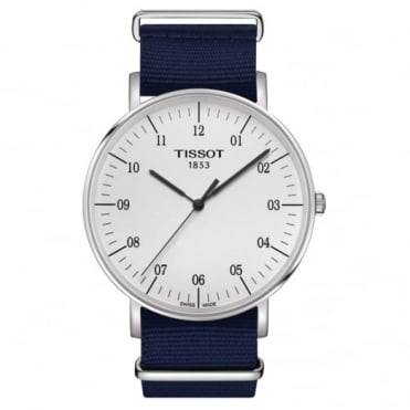 Tissot Gent's Blue Fabric Everytime Watch T1096101703700