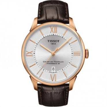 Tissot Gent's Rose Chemin Des Tourelles Powermatic 80 Watch T099.407.36.038.00