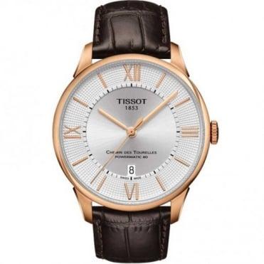 Tissot Gent's Rose Chemin Des Tourelles Powermatic 80 Watch T0994073603800