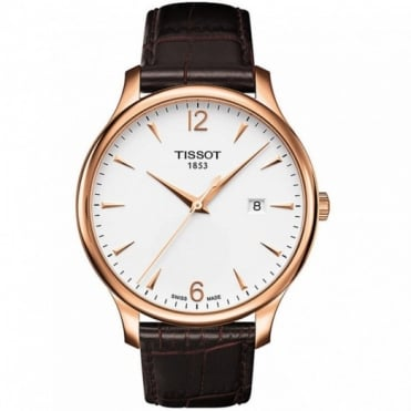 Tissot Gents Rose Gold Plate T-Classic Tradition Watch T0636103603700