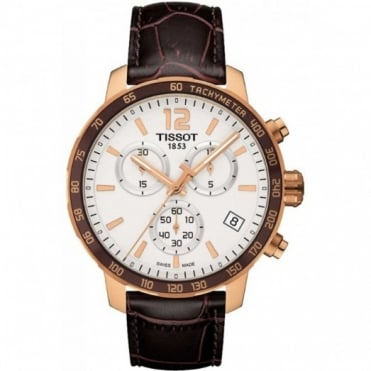 Tissot Gents Rose Gold T-Sport Quickster Watch T095.417.36.037.00
