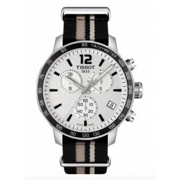 Tissot Gent's S/Steel Fabric Quickster Watch T0954171703710
