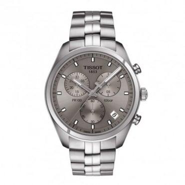 Tissot Gent's S/Steel T-Classic PR100 Chrono Watch  T101.417.11.071.00