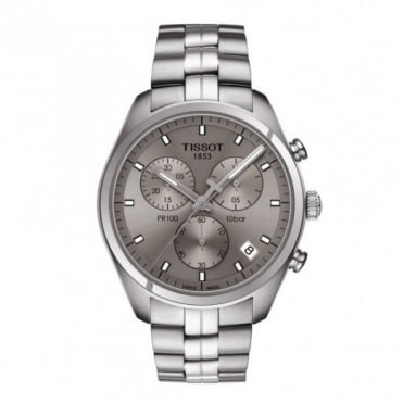 Tissot Gent's S/Steel T-Classic PR100 Chrono Watch T1014171107100