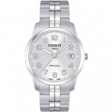 Tissot Gents S/Steel T-Classic PR100 Watch T049.410.11.032.01
