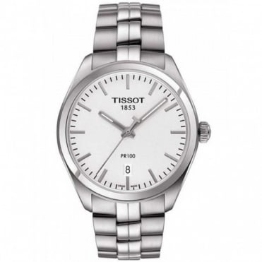 Tissot Gents S/Steel T-Classic PR100 Watch T101.410.11.031.00
