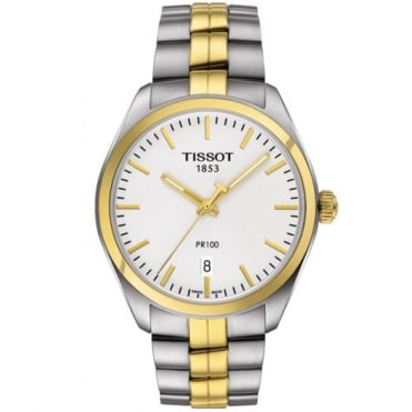 Gents Two Tone T-Classic PR100 Watch T1014102203100